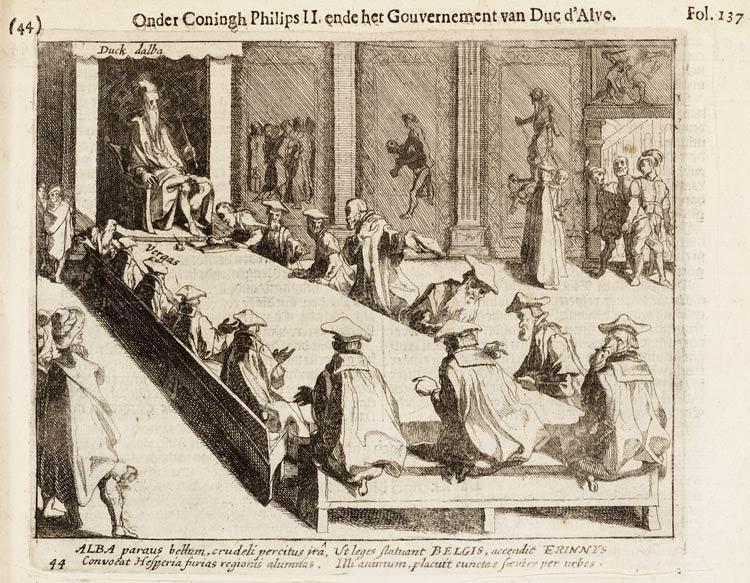 De Bloedraad 1616 Gravure Delft
