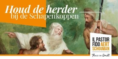 Campagne Houd de herder bij de schapenkoppen banner