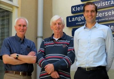 Auteurs Meesterlijk Metselwerk v.l.n.r. Kees Sigmond, Loet Megens, Jeroen Markusse