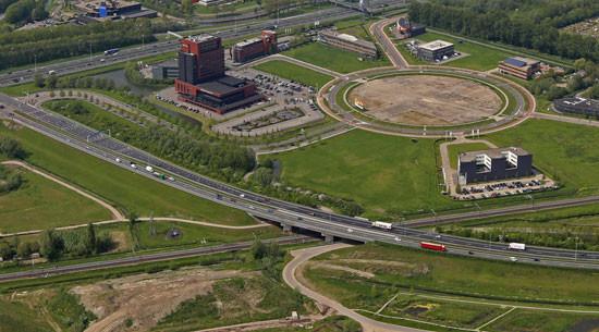 Luchtfoto Randweg N3 Dordrecht, © Thymen Stolk
