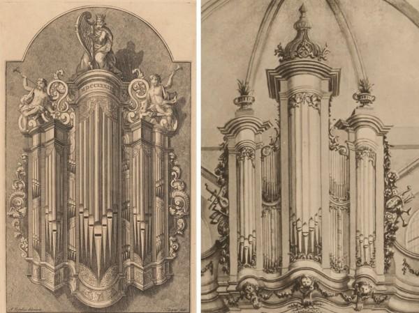 Orgel Trinitatiskapel Dordrecht 1733 en 1779